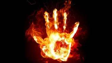 Hand-on-Fire-Wallpaper-For-Free