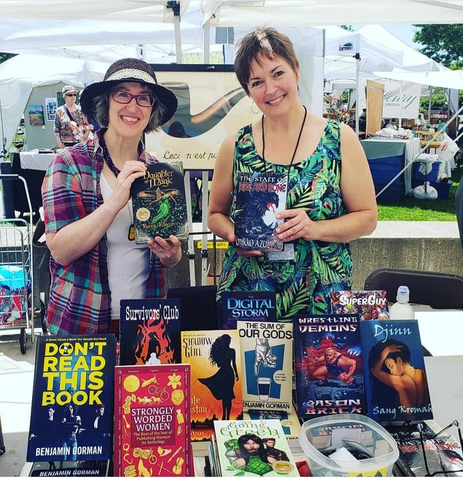 Karen and Mikko at Wilsonville Festival of Arts